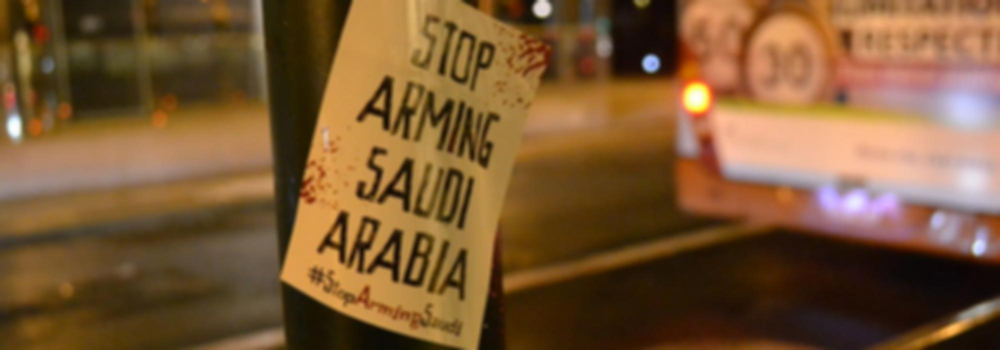 Sticker - Stop Arming Saudi